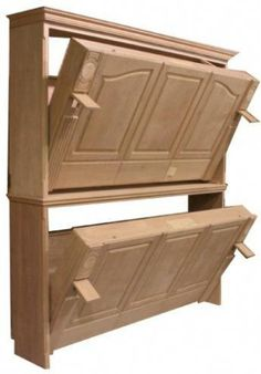to Build a Side-Fold Murphy Bunk Bed DIY plans for a Murphy bunk bed (side folding)!DIY plans for a Murphy bunk bed (side folding)! Bunk Bed Diy, Murphy Bunk Beds, Bunk Bed Plans, Bunk Beds With Stairs, Murphy Bed Plans, Kids Bunk Beds, Diy Murphy Bed, Bunkbeds For Small Room, Bunk Bed Ideas For Small Rooms