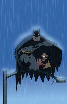 Batman and Robin - this is so cute