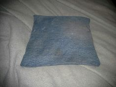 Denim rice bag for hot or cold pack Rice Bags, Cold, Throw Pillows, Denim, Knitting, Projects, Log Projects, Toss Pillows, Blue Prints