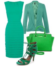 head to toe green outfit