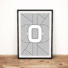 Digital Download Letter Print O Initial by FactoryTwentyOne