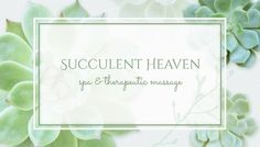 Modern Succulents Elegant Botanical Massage Therapy Business Cards http://www.zazzle.com/modern_succulents_botanical_business_cards-240030696051857934?rf=238835258815790439&tc=GBCMassage1Pin