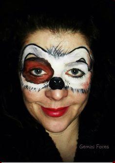 Dog mask face paint