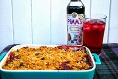 Belleau Kitchen: plum and fig crumble with Pimm's Blackberry and Elderflower Special Edition