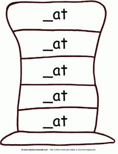"Variety of ""hat patterns"" for sentence strips, word families, etc -  Pinned by @PediaStaff – Please Visit http://ht.ly/63sNt for all our pediatric therapy pins"