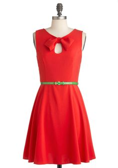 Yes red and green my favorite color combo!     Grenadine of Students Dress