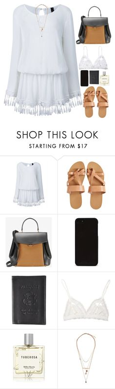 """""""Untitled #2705"""" by wtf-towear ❤ liked on Polyvore featuring KYMA, Nina Ricci, Boston Traveler, Hanky Panky, Miller Harris and Topshop"""