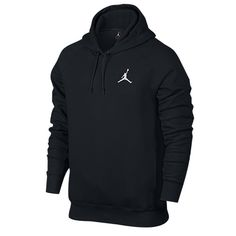 23c256cb5932 Nike Mens Jordan Flight Pull Over Hooded Sweatshirt Black White Size  X-Large  Made with Soft Terry Fabric and features and embroidered Jordan  Logo on the ...