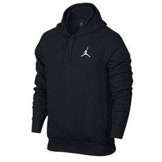 Jordan Flight Fleece Pull Over Hoodie - Men's - All Black / Black