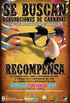 II Concurso de Popurrí Jovenes Carnavaleros 2013 el 2 de marzo a las 12:30h.    Inscripciones y más información:  https://www.facebook.com/events/214153948724207/