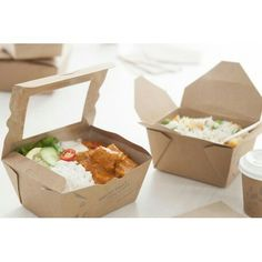 Paper meal box with window