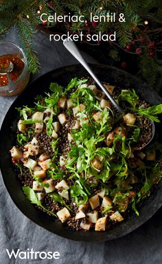 Try our celeriac, lentil and rocket salad recipe. The spicy dressing on this tasty winter salad makes a refreshing change from rich festive food, and is a delicious accompaniment to Christmas leftovers.