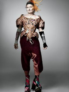Vivienne Westwood in her own designs, photographed by Craig McDean for Interview Magazine, Fall/Winter 2012