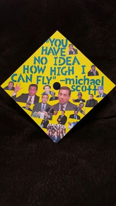 The office graduation cap. Michael G. Scott The office graduation cap. Michael G. Funny Graduation Caps, Graduation Cap Designs, Graduation Cap Decoration, Graduation Diy, Grad Cap, High School Graduation, Graduation Photos, Graduation Announcements, Graduation Invitations