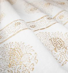 Gold khari print available as quilts and cushion covers