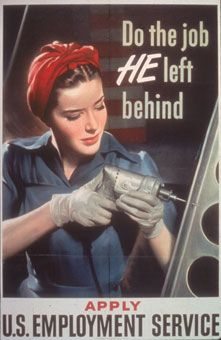 Women During WWII:  Focus was on men's jobs, therefore after the war there was a focus on women 'reviving' their femininity