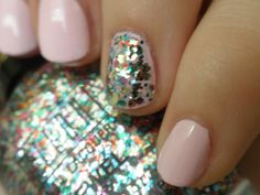 Pastel Pink with a little glitter
