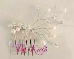 peinetas con cristales y perlas - Buscar con Google