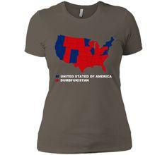 Dumbfuckistan TShirt City vote Map United States of America