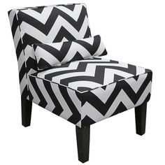 Chevron Slipper Chair at Joss & Main