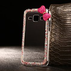 DIY Exquisite Bowknot with Rhinestones Pattern PC Hard Case for Multiple Samsung…