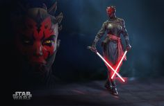 """""""Mistress Maul"""" By Ivan Ozyumov. Star Wars Droids, Vader Star Wars, Star Wars Rpg, Star Wars Fan Art, Star Wars Characters Pictures, Star Wars Images, Fantasy Characters, Star Wars Cartoon, Star Wars Design"""