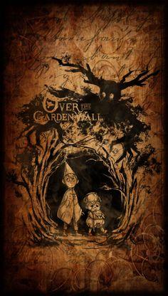 over the garden wall wallpaper Garden Wall Art, Over The Garden Wall, Cartoon Shows, Cartoon Art, Wall Wallpaper, Iphone Wallpaper, Fantasy Art, Cool Art, Fandoms