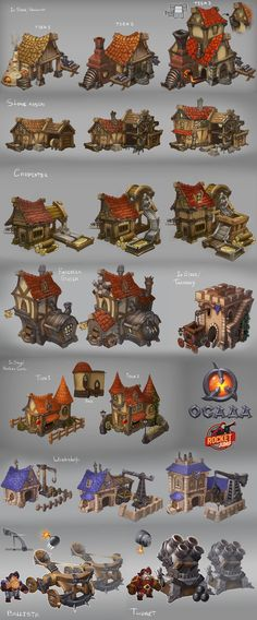 Siege - buildings by Larbesta game user interface gui ui | Create your own roleplaying game material w/ RPG Bard: www.rpgbard.com | Writing inspiration for Dungeons and Dragons DND D&D Pathfinder PFRPG Warhammer 40k Star Wars Shadowrun Call of Cthulhu Lord of the Rings LoTR + d20 fantasy science fiction scifi horror design | Not Trusty Sword art: click artwork for source