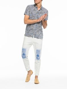 Scotch & Soda   Printed Linen Shirt