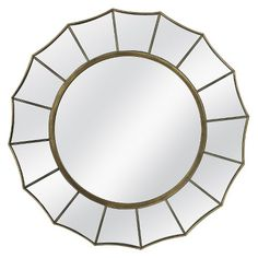 Threshold™ Starburst Mirror-- Possible over the bed mirror