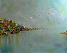 Original Oil Painting My TownContemporary Modern by mgotovac, $259.00