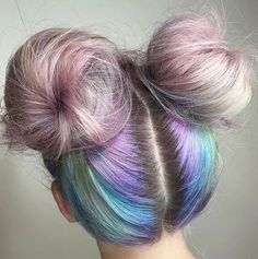 Rainbow space buns x