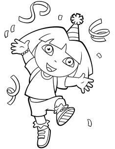 Kleurplaat Dora kleurplaten Dora Coloring, Coloring For Kids, Colouring, 3d Pencil Art, Lol Dolls, Smurfs, Birthday Parties, Pictures, Diy