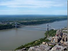 George Washington Bridge was built in Verrazano Narrows Bridge was built in Photo of George Washington Bridge Ways To Travel, Places To Travel, Who Is George Washington, Jackson Airport, Kennedy Airport, Famous Bridges, Manhattan New York, Ms Gs, Empire State Building