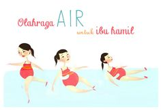 Olahraga Air untuk Ibu Hamil :: exercise on water :: pregnancy exercise