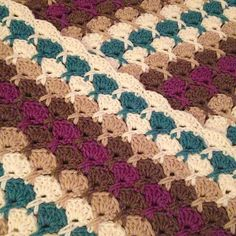 Ravelry: AnnabelsArmoire's Berries and chocolate blanket; link to free pattern <3 the colors......