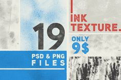 Check out 19 Ink Texture + 1 Badge Bonus by Handcraft on Creative Market