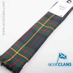 MacLaren Modern Tartan Scarf. Free worldwide shipping available