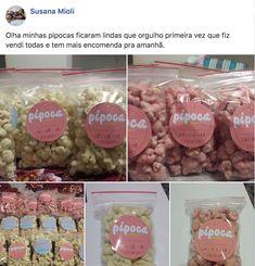 Pipoca de Sucesso - Curso de Pipoca Gourmet | Pipoca de Sucesso Chocolate, Cereal, Breakfast, Grande, Food, Parmesan Potatoes, Popcorn Recipes, Movie Nights, Candy Popcorn