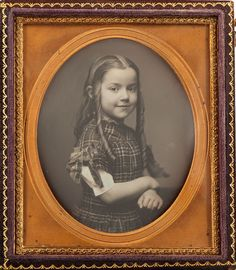 "Sixth plate daguerreotype of Laura E. ""Lottie"" Leavitt of Mobile, Alabama reportedly taken in 1859 at the age of 10.  Lottie was the daughter of Levi Leavitt and Margaret (Crosby) Leavitt.  Levi was a gardener in Mobile.  Lottie died on July 23, 1862."