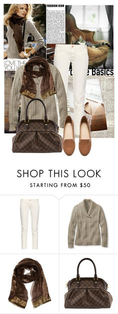 """""""Flats!"""" by sophia561 ❤ liked on Polyvore featuring Duffy, Earnest Sewn, L.L.Bean, Faliero Sarti, Louis Vuitton and H&M"""