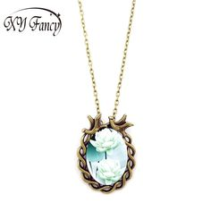 XY Fancy 2017 New Women Girl Retro Jewelry Elegant Lotus Pattern flower Pendant Necklace for Xmas Birthday Gift ZK30  Price: 0.20 USD