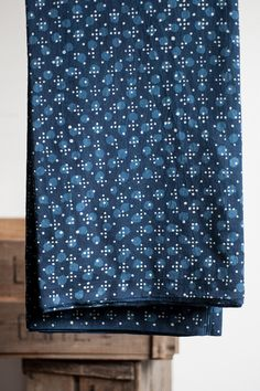Traditional hand block and dye techniques are used to make this wonderful rural cloth.  Indigo Pond Life is suitable for the following patterns in our Workbook: Bantam, Heron, and Saltmarsh.