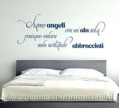 ANGELI CON UN'ALA SOLA adesivo murale 39€ MADE IN ITALY