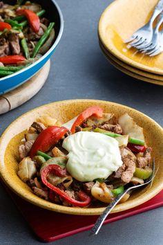 Turkey Stir-Fry with Wasabi Mayo
