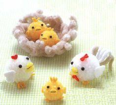 Animales con pompones de lana ~ Portal de Manualidades