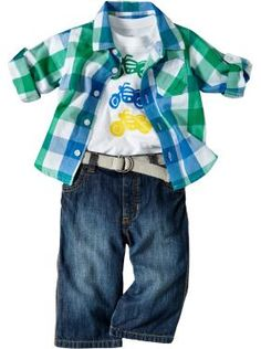 Baby: Baby Boys Outfits We Love | Old Navy  For my baby boy  Love the over shirt bright Colorado with white tee and dark jeans