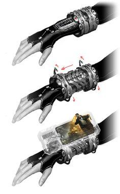 INSPIRATION : Terminal AllNet sur combinaison de combat, combinaison Grand froid, support-vie.