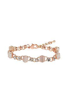 Catseye Rhinestone Bracelet - good design for opal Jewelry Design, Unique Jewelry, Lace Tops, Opal, Cool Designs, Topshop, Rose Gold, Jewels, Bracelets