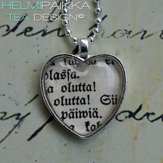 Olutta! Olutta! 20€ Tea Design, Dog Tags, Dog Tag Necklace, Jewelry, Jewlery, Jewerly, Schmuck, Jewels, Jewelery